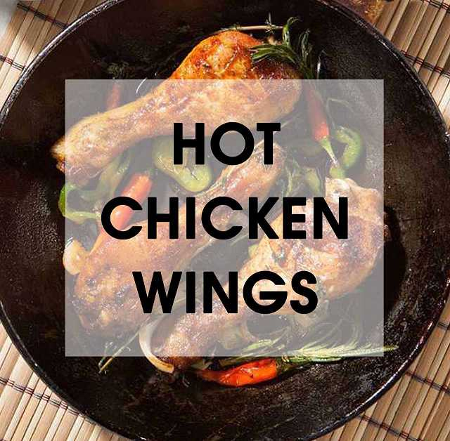 mexican-tears hot chicken wings backofen scharfe chili-sauce